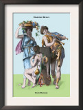 Classical Greek Musicians Posters by Richard Brown