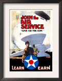 Join the Air Service: Give 'Er the Gun Art by Keith