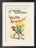 Puck's Library: Young America Poster by Frederick Burr Opper