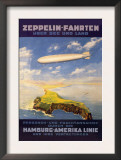 Hamburg America Lines Flies over the Ocean and Isthmus Posters by E. Bauer