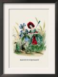 Bleuet et Coquelicot Art by J.J. Grandville