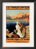 Marseille-Algiers Cruise Line Prints