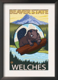 Beaver & Mt. Hood, Welches, Oregon Prints