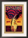 Noces d'Argent del F.C. Barcelona Print by J. Segrelles