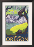 Beaver Family, Salem, Oregon Poster