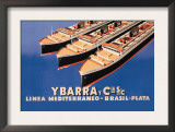 Ybarra and Company Mediterranean-Brazil-Plata Cruise Line Posters by  Flos