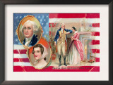 George Washington and Martha Curtis Print