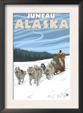 Dog Sledding Scene, Juneau, Alaska Prints