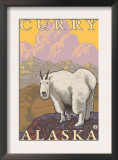 Mountain Goat, Curry, Alaska Prints