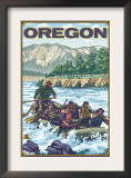 White Water Rafting, Oregon Prints