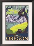 Beaver Family, Odell, Oregon Print