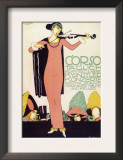 Violinist in a Pink Dress Posters