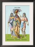 Egyptian Staff Bearers, Egyptian King Prints by Richard Brown
