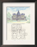 French Suburban Chateau Posters by Richard Brown