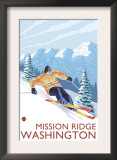 Downhhill Snow Skier, Mission Ridge, Washington Posters