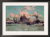 Port Traffic on the River Mersey Poster by Charles Dixon
