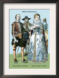 James Marquis of Hamilton and Francis Dutchess of Genoa Prints by Richard Brown