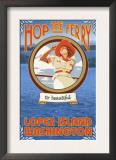 Woman Riding Ferry, Lopez Island, Washington Posters
