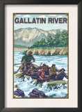 White Water Rafting, Gallatin River, Montana Prints