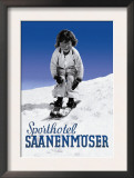Sporthotel Saanenmoser: Little Girl Skiing Posters by Armin Reiber
