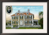 Cambridge, Massachusetts - Exterior View of Longfellow's Home No. 2 Print