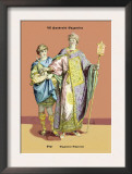 Page and Byzantine Emperor , 8th Century Prints by Richard Brown
