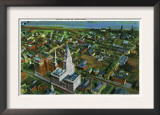 Hartford, Connecticut - Aerial View of the City Posters