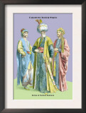 Turkish Noblemen and Sultan, 11th Century Print by Richard Brown