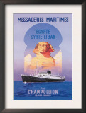 Messageries Maritimes Egypt-Syria-Lebanon Cruise Line Poster