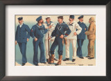 U.S. Navy Uniforms 1899 Print by  Werner