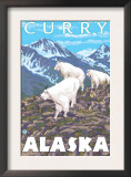 Mountain Goats Scene, Curry, Alaska Prints