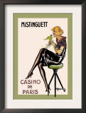 Mistinguett, Casino de Paris Print by Charles Gesmar