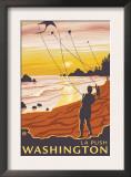 Beach & Kites, La Push, Washington Posters