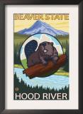 Beaver & Mt. Hood, Hood River, Oregon Print
