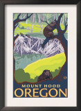 Beaver Family, Mount Hood, Oregon Poster
