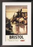 Bristol, England - Clifton Suspension Bridge and Boats British Rail Poster Prints