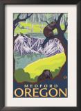 Beaver Family, Medford, Oregon Print