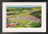 Ithaca, New York - Aerial View of Cornell University Schoellkopf Stadium Posters