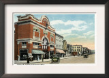 Bridgeport, Connecticut - East Main Street View of the American Theatre Posters
