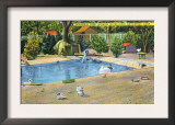 Bridgeport, Connecticut - Beardsley Park View of Waterbirds Print
