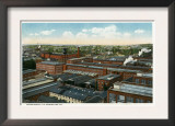 Bridgeport, Connecticut - Aerial View of the Union Metallic Cartridge Co Bldgs Art