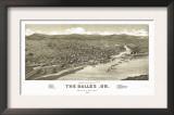 Oregon - Panoramic Map of Dalles Posters
