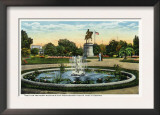 Boston, MA - Maid of the Mist Fountain, Washington Statue, Public Garden View Prints