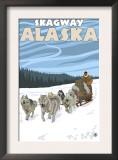 Dog Sledding Scene, Skagway, Alaska Posters