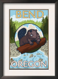 Beaver & River, Bend, Oregon Prints