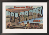 Holbrook, Arizona - Large Letter Scenes Posters
