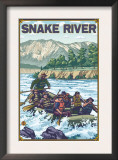 White Water Rafting, Snake River, Idaho Print
