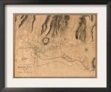 Hawaii - Panoramic Map of Honolulu Prints