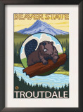 Beaver & Mt. Hood, Troutdale, Oregon Prints