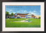Bridgeport, Connecticut - Exterior View of the Brooklawn Country Club Posters